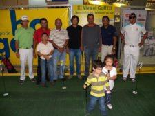 Los líderes de la PGA de Venezuela en el Centro de Práctica y Exhibición de Golf EPA en el Sambil Maracaibo