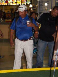 Diego Millán (FVG) en el Centro de Práctica y Exhibición de Golf EPA en el Sambil Maracaibo