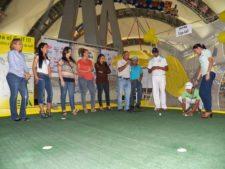 Rafael Guerrero en el Centro de Práctica y Exhibición de Golf EPA en el Sambil Maracaibo
