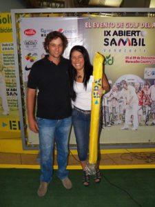 Daniel Cabriles en el Centro de Práctica y Exhibición de Golf EPA en el Sambil Maracaibo