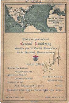 Invitación Lindbergh