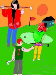 ¿Por qué los Niños no quieren Participar en el Golf? (Cortesía newgrounds.com)