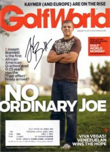 joseph Bramlett - Autographed GolfWorld Magazine (Cortesía autographsforsale.com)