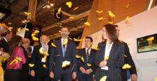 Príncipes de Asturias en stand Colombia Fitur 2013 (cortesía Proexport)