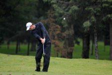 David Vanegas en el hoyo 9, durante la segunda ronda del 55 Abierto Mexicano de Golf