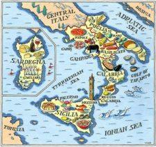 Mapa Sur de Italia