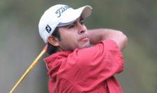 El mexicano Ángel Morales-Hernández en acción esta mañana en el Club de Golf México durante la primera ronda del 55º Abierto Mexicano de Golf. El torneo es el primero de los quince que integran en el calendario de la temporada 2013 del PGA TOUR Latinoamérica. Crédito: Enrique Berardi/PGA TOUR