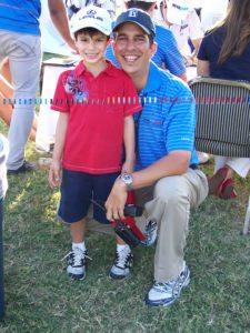 Carlos Sacre e hijo