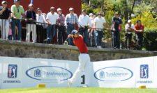 El colombiano Manuel Villegas realiza su golpe de salida en el tee del 1 del Atlas Country Club, en donde este domingo se disputa la ronda final del TransAmerican Power Products CRV Open. El torneo es el segundo de la temporada 2013 del PGA TOUR Latinoamérica. Crédito: Enrique Berardi/PGA TOUR