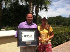 Ed Weber, PGA con De Antonio (cortesía www.golfersguide.com)