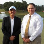 Izq. Dr. Ramón Crespo Presidente Club de Golf Panamá & Dir. Tecnico Web.com