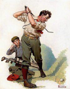"""""""Golfing"""" por Norman Rockwell (cortesía www.flickr.com)"""