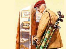 Norman Rockwell - Golf (Cortesía es.wahooart.com)
