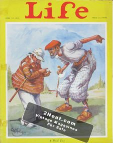 "LIFE Magazine 1928-04-19/ Cute GOLF theme art ""A bad lie"", art by C. H. Sykes"