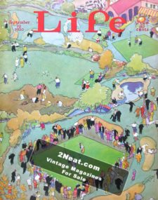 LIFE Magazine 1930-09-19/ Cover Golfers and spectators at a golf course, art by Russell Patterson