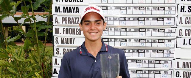Gustavo León gana de punta a punta con -10