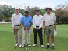 Robert Askew (Campeón Gross Senior), Mario Sánchez (Sub-Campeón Neto Senior), Jovan Vukelja y Charles Van-Cleef