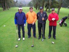 Mario Sánchez, David Hernández Ron, Coronel Julio Poveda y Jaime Alberto
