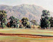 Cabré pintaba desde el Caracas Country Club (cortesía lostemploscotidianos.wordpress.com)