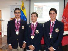 Gustavo Morantes, George Trujillo y Gustavo León