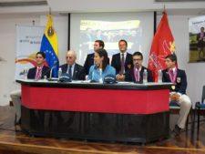 Gustavo León, Freddy Alcántara (Pres. FVG), Ministro Alejandra Benítez, Gustavo Morantes y Geirge Trujillo (1ra Fila)/ Víctor Fookes y Daniel Escalera (2da Fila)