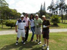 Marcos Sosa, Jesús Liendo, Sandra Wilkinson, José Rangel y Gustavo Tineo.Tee Hoyo 9 - Julio 5'13