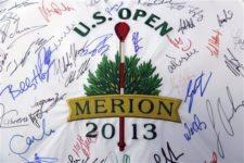 Logo 2013 US Open autografiado