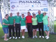 Equipo de Trabajo del Panamá Medal Tour al final del BMW Championship