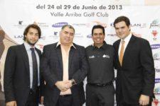J. A. González, Otto Solís y Juan Nutt