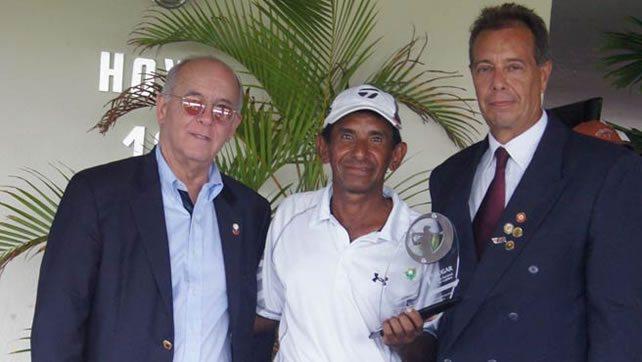 Freddy Alcántara (Pres. FVG), Gustavo Pena & Ergio Guitian 3er Abierto Barquisimeto GC