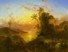 Costa de La Guaira al atardecer, por Ferdinand Bellermann (cortesía wikimedia.org)