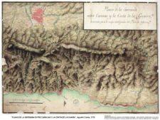 Plano de Serranía entre Caracas y Costa de la Guaira, Agustín Crame, 1778 (cortesía www.pdv.com)