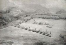 Puerto de La Guaira en 1880 (cortesía carmelourso.wordpress.com)