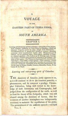 Voyage a la Partie Orientale de la Terre-Ferme, dans l'Amérique Méridionale (cortesía library.lehigh.edu)