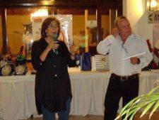 Mishka Capriles de Rodríquez, Presidenta de la Fundación y Director de la Junta Directiva, al momento de anunciar la premiación
