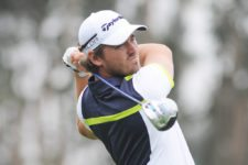 """LIMA, PERU - NOVEMBER 8: Armando """"Gato"""" Zarlenga of Argentina during the second round of the Lexus Perú Open at Los Inkas Golf Club on November 8, 2013 in Lima, Peru. The 23-year old from Tucuman, Argentina holds a two-shot lead following course record-tying 63 today. Photo Credit: Enrique Berardi/PGA TOUR"""