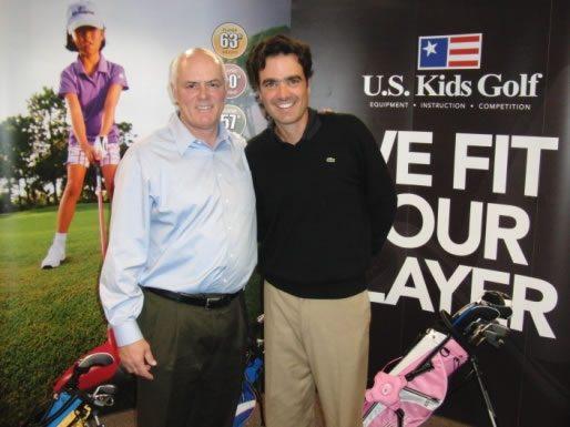 En la gráfica con Dan Van Horn, Presidente y dueño de US Kids Golf