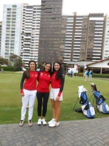 Valentina Gilly, Mariela Hoffman y Ariadne Fonseca
