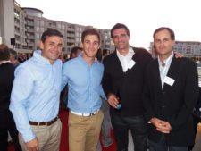 Claudio Rivas (Director Técnico PGA LA), Jugador, Federico Diner y Luís Felipe Ánvarez (Tileist)