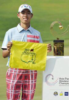 Tianlang Guan en el Masters 2013 (cortesía www.hasvistomibola.com)