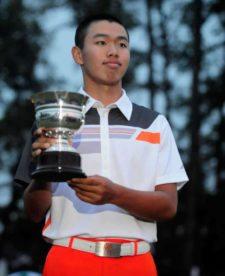 Tianlang Guan Mejor Amateur Masters 2013 (cortesía www.augusta.com)