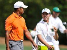 Tiger y Guan en Masters 2013 (cortesía www.china.org.cn)