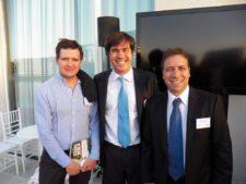 Julio Bezanilla (Chile), George Gil y Roberto Palais