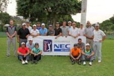 LIMA, PERÚ ENERO 17, 2014: Este es el grupo de 20 jugadores que ganaron estatus totalmente exento al terminar en el top 20 del primer Torneo de Clasificación para la temporada 2014 del NEC Series-PGA TOUR Latinoamérica. El evento se disputó en el Country Club La Planicie en Lima, Perú. (Walter Mendiola/PGA TOUR)