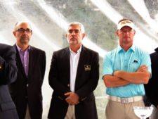 José Pablo Arango, José Fco. Arata y Alex Cejka