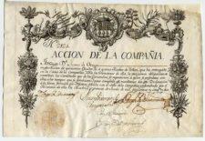 Compania Guipuzcoana Acción 2124 Madrid 1º de junio 1752