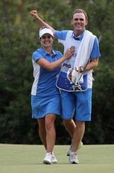 Beatriz Recari & Caddie Andreas Thorp