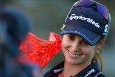 Beatriz Recari después de ganar el Kia Classic.foto.Gabriel Roux