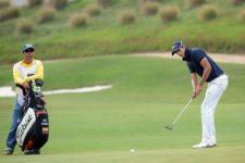 El colombiano David Vanegas durante la tercera ronda del 67° Arturo Calle Colombian Open presentado por Diners Club en el Ruitoque Golf Country Club (Enrique Berardi/PGA TOUR)