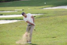 David Vanegas en la cancha (Cortes PGA LA/ E. Berardi)